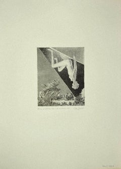 The Fall of Sibyl - Original Etching on Paper by Leo Guida - 1970s