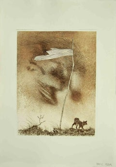 The Flag - Original Etching by Leo Guida - 1970s