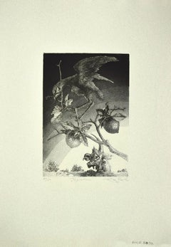 The Guardian - Original Etching on Paper by Leo Guida - 1980s