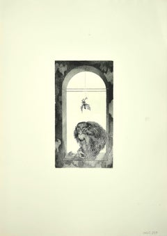 The Monkey - Original Etching by Leo Guida - 1970s