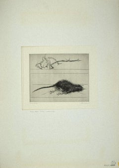 The Rat - Original Etching on Paper by Leo Guida - 1972