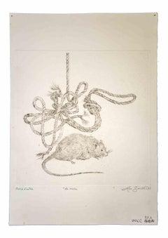 The Rope - Original Print by Leo Guida - 1975