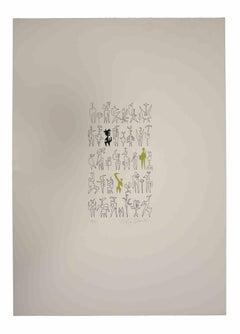 The Signals - Original Lithograph by Leo Guida - 1970s