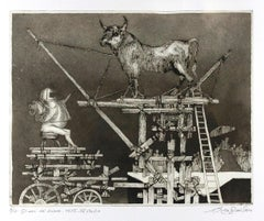 The Years of Suffering - Original Etching by Leo Guida - 1975