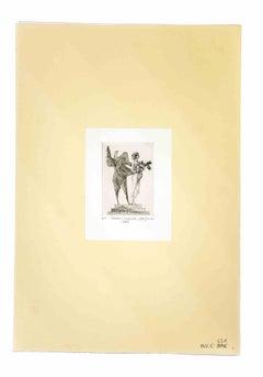 Venus and the Sapient - Original Etching by Leo Guida - 1980s