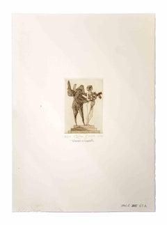 Venus and the Sapient - Original Print by Leo Guida - 1975