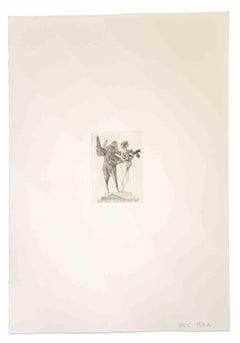 Venus and the Sapient - Original Print by Leo Guida - 1980s
