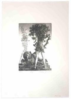 Vespers - Original Print by Leo Guida - 1970s
