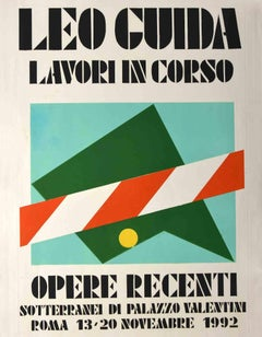 Vintage Poster - Original Lithograph by Leo Guida - 1992