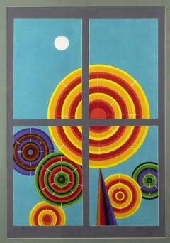 Window 1 - Original Screen Print by Leo Guida - 1995
