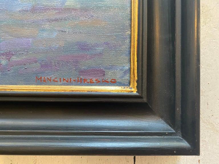 Gloucester Twilight  - Impressionist Painting by Leo Mancini-Hresko