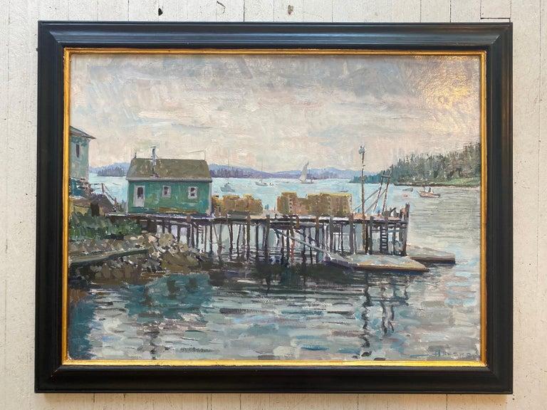 Lobster Dock - Painting by Leo Mancini-Hresko