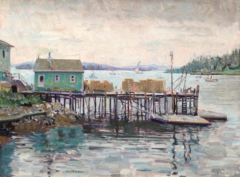 Leo Mancini-Hresko Landscape Painting - Lobster Dock