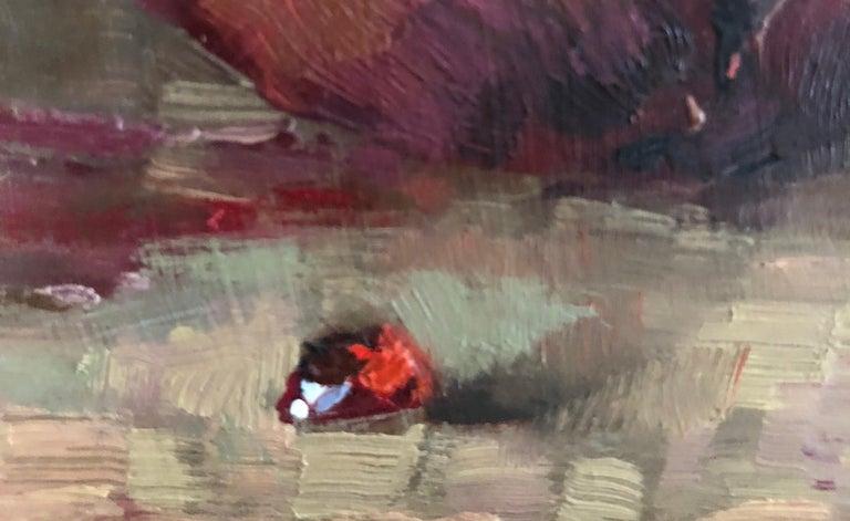 Pomegranate - Brown Still-Life Painting by Leo Mancini-Hresko