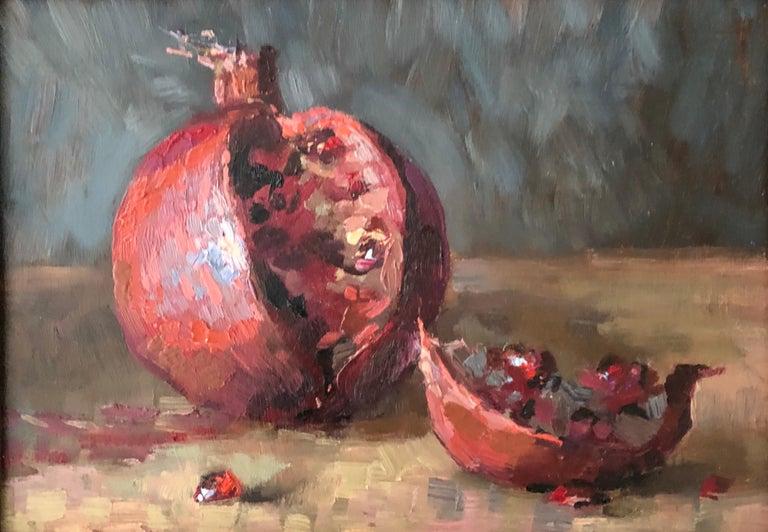 Leo Mancini-Hresko Still-Life Painting - Pomegranate