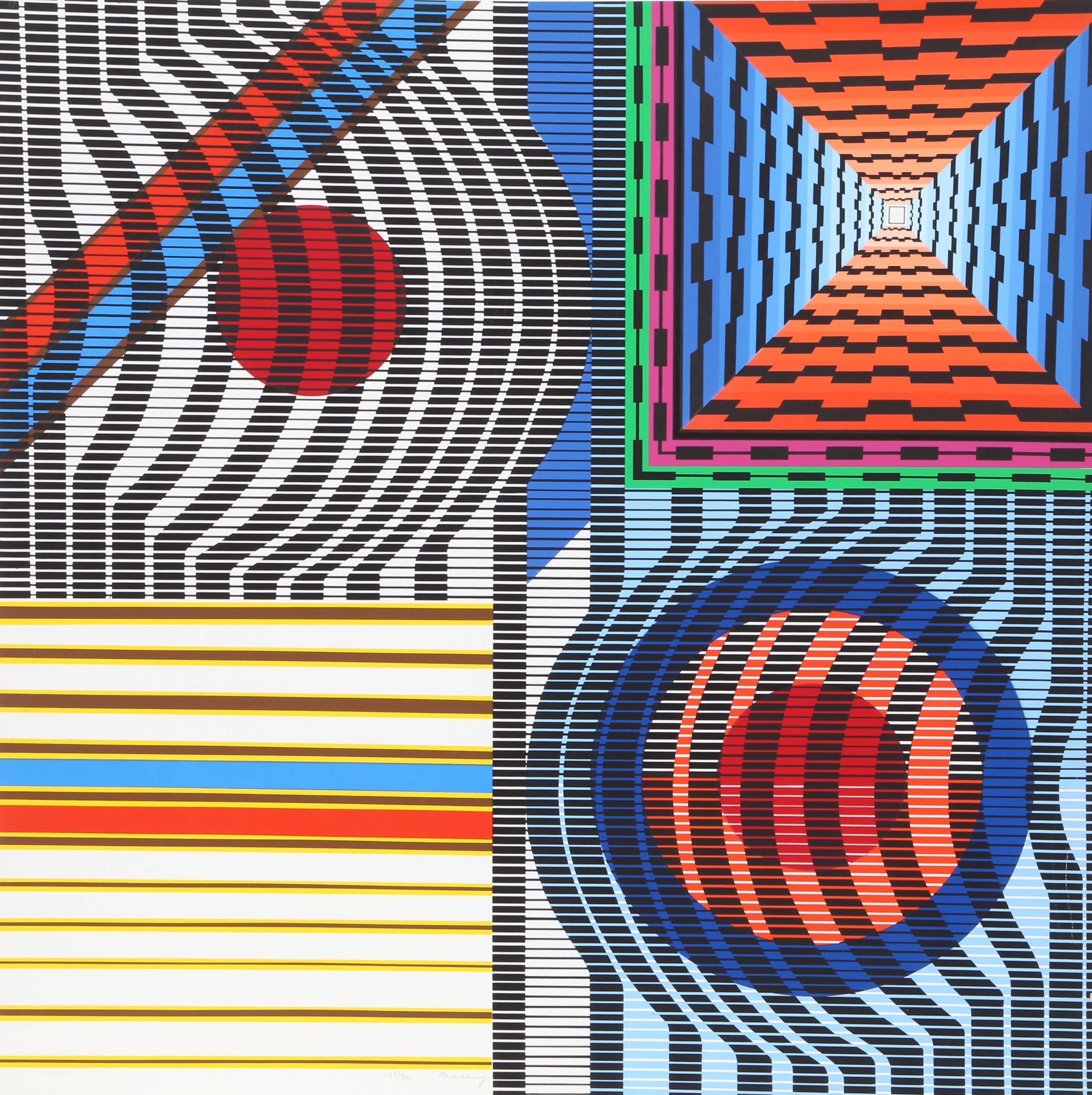 Adagio, Geometric Abstract by Leo Maranz