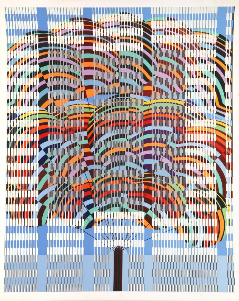 Artist:  Leo Maranz, American (1900 - 1988) Title:  Balloons Year: circa 1977 Medium: Serigraph, signed and numbered in pencil Edition:  300, AP Paper Size:    42 x 34 inches