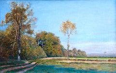Landscape - 19th Century Impressionist Oil, Autumn Landscape - Leo Marie Gausson