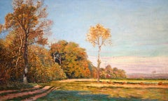 Landscape - French Impressionist Oil, Autumn Landscape by Leo Marie Gausson