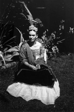 Frida en xochimilco, México. Framed
