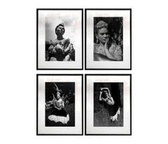 SET Frida Khalo, México. Framed