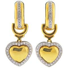 Leo Pizzo Diamond Gold Heart Earrings