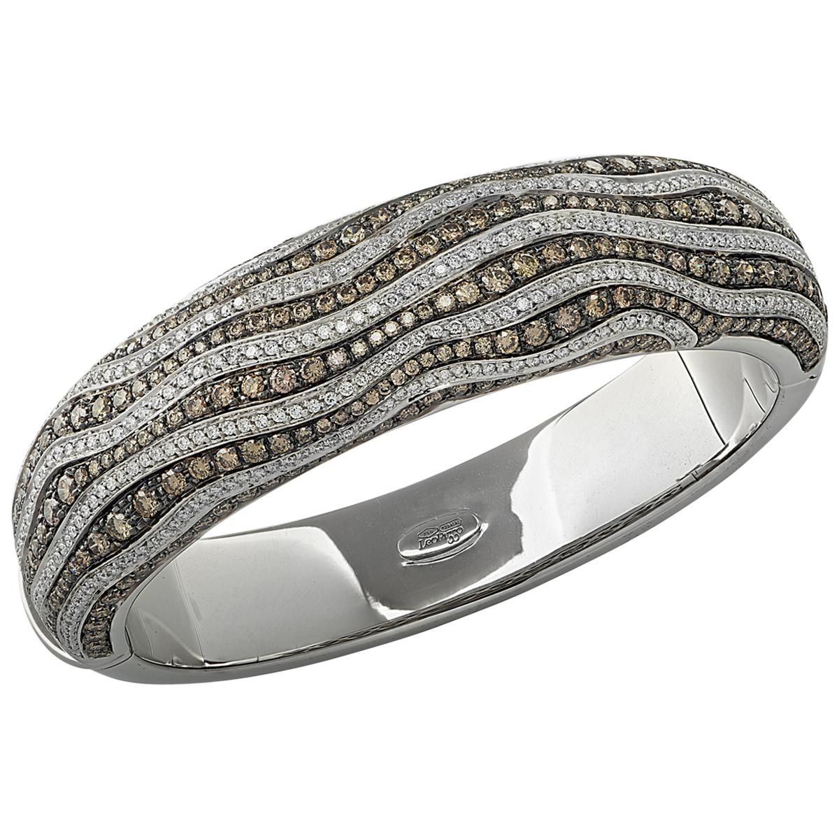 Leo Pizzo Italy 7 Carat Diamond Bangle Bracelet