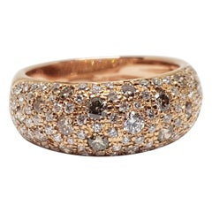 Leo Pizzo Rose Gold Diamond Ring