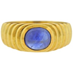 Leo Pizzo Sapphire Cabochon Gold Ring