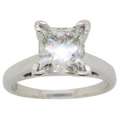 Leo Princess Cut Solitaire Diamond Engagement Ring