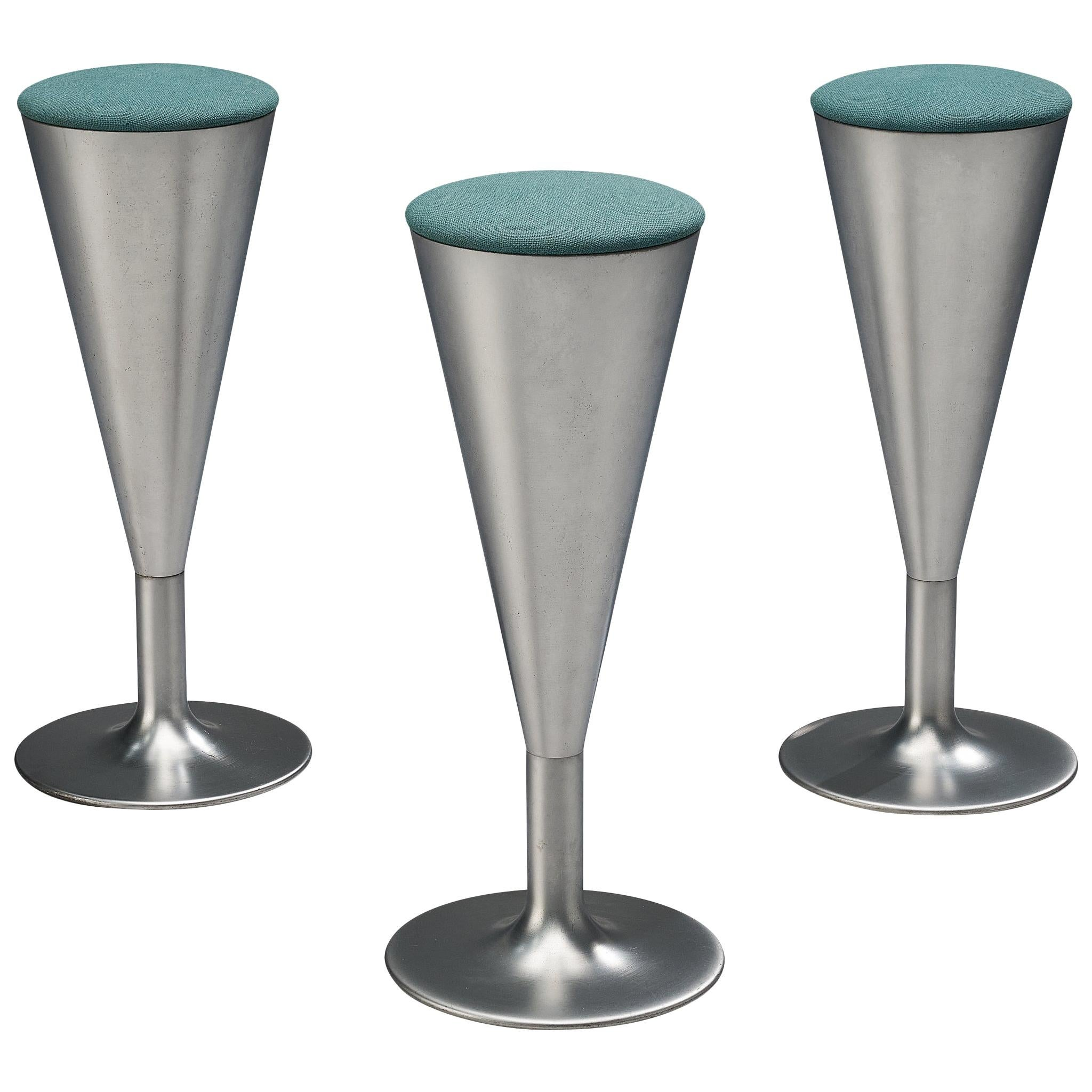 Leo Thafvelin for Johanson Design Set of Three Bar Stools