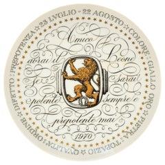 Leo, Zodiac Plate Series by Piero Fornasetti, 1970