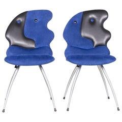 Leolux Antipode Designer Chair Set Fabric Blue Modern