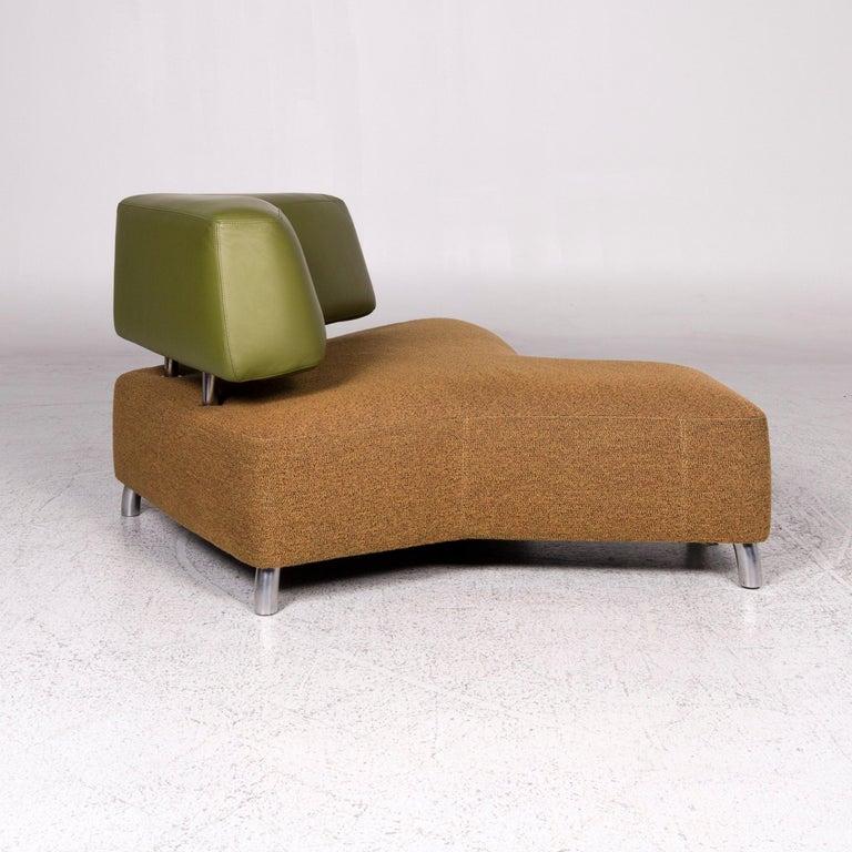 Leolux Archipelago Designer Fabric Sofa Set Green Brown 1x Three-Seat 1x