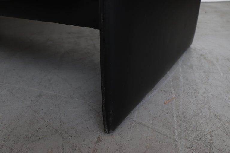 Leolux 'Bora Bora' Black Leather Sofa For Sale 8