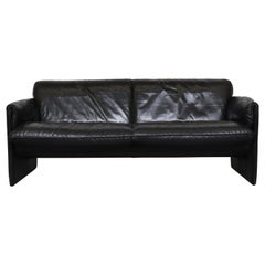 Leolux 'Bora Bora' Black Leather Sofa