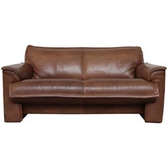 Leolux Buffalo Leather Loveseat Sofa