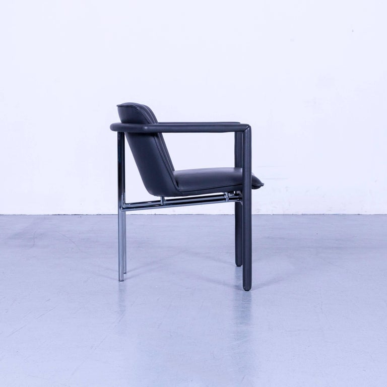Leolux Cachucha Leather Armchair Black One-Seat 2