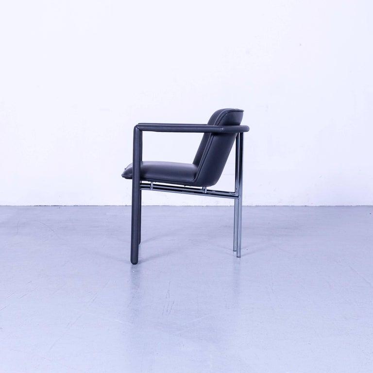 Leolux Cachucha Leather Armchair Set Black One-Seat 5