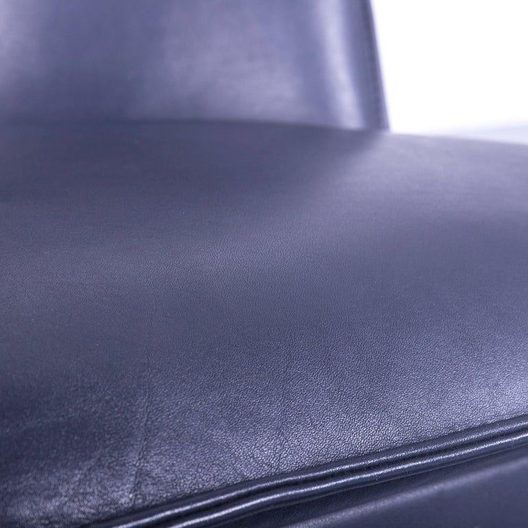 Leolux Cachucha Leather Armchair Set Black One-Seat In Good Condition In Cologne, DE