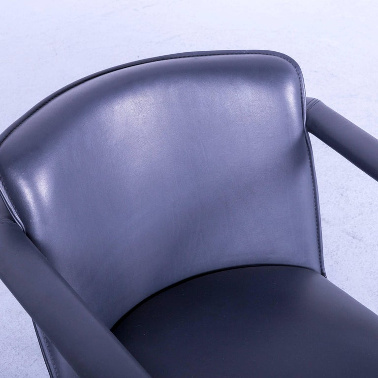 Leolux Cachucha Leather Armchair Set Black One-Seat 1