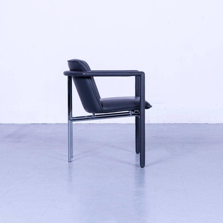 Leolux Cachucha Leather Armchair Set Black One-Seat 3