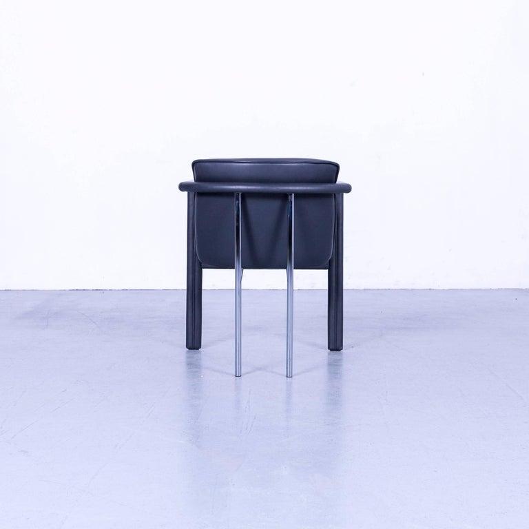 Leolux Cachucha Leather Armchair Set Black One-Seat 4