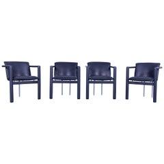Leolux Cachucha Leather Armchair Set Black One-Seat