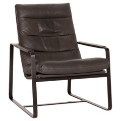 Leolux Indra Leather Armchair Gray