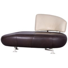 Leolux Kikko Leather Sofa Brown Genuine Leather Lounger Couch