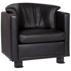 Leolux Leather Armchair Black