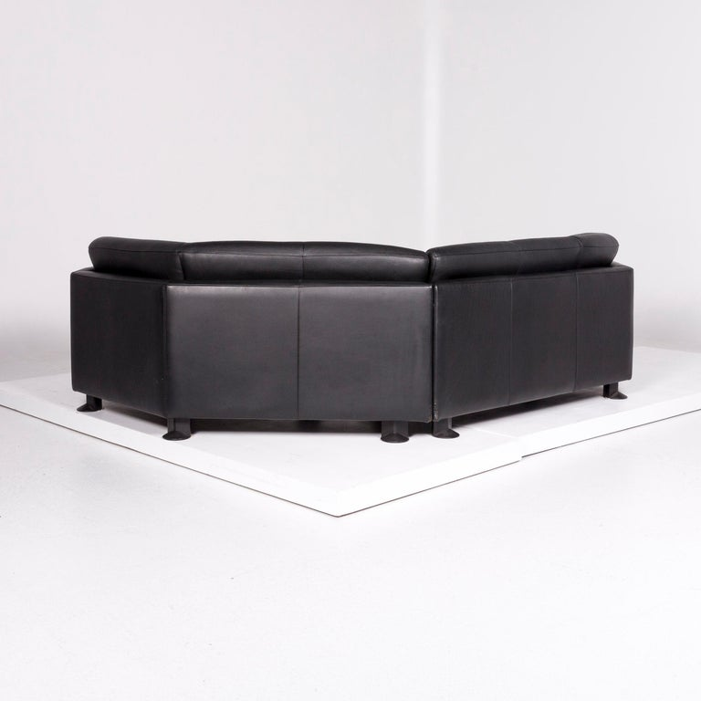Awesome Leolux Leather Sofa Set Black 1 Corner Sofa 1 Armchair Onthecornerstone Fun Painted Chair Ideas Images Onthecornerstoneorg