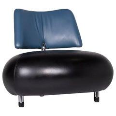 Leolux Pallone Leder Sessel Schwarz Blau