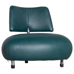 Leolux Pallone Pa Designer Chair Leather Green Modern